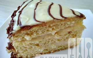 Пошаговый рецепт приготовления Бисквитного торта с заварным кремом