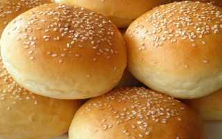 Как приготовить булочки для гамбургеров в домашних условиях по пошаговому рецепту с фото