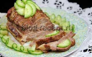 Буженина в духовке в фольге: пошаговый рецепт, из свинины
