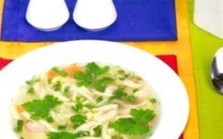 Суп с домашней лапшой в лучших национальных традициях