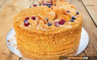 Как готовить медовый торт рыжик со сметанным кремом классический рецепт с фото пошагово –