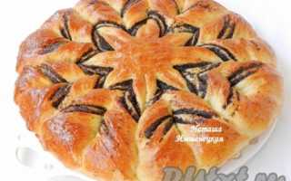 Пирог с маком из дрожжевого теста рецепт с фото