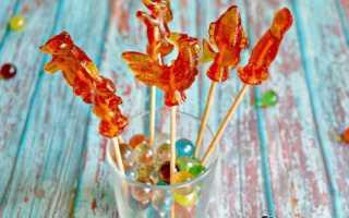 Как сделать конфеты из сахара в домашних условиях. На палочке, без формы. Рецепты