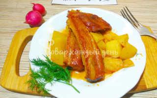 Копчёные рёбрышки с картошкой: рецепты с фото