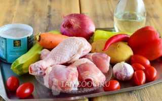 Овощное рагу с курицей рецепты