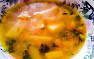 Суп с манными клёцками