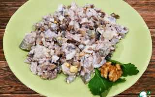 Салат с курицей и орехами рецепты приготовления