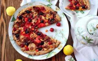 Сладкая пицца: быстрые, невероятно вкусные и простые рецепты фруктовой пиццы с фото