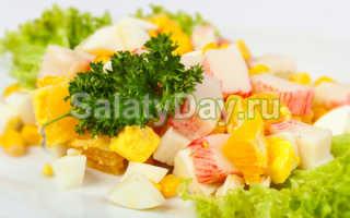 Салат с апельсином и крабовыми палочками: особенное блюдо