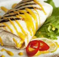 Энчилада (трубочки из лепешек с мясом и овощами)