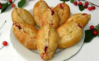 Пирожки с вишней в духовке из разного теста