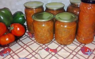Лечо из помидор, перца, моркови и лука — Вкусные рецепты на зиму