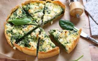 Киш со шпинатом и сыром рецепт с пошаговыми фото