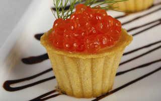 Тарталетки: варианты приготовления праздничной закуски с икрой