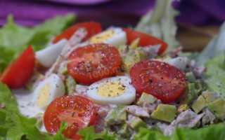 Салат с авокадо и консервированным тунцом — 6 рецептов приготовления