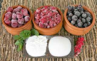 Рецепт приготовления киселя из крахмала и замороженных ягод