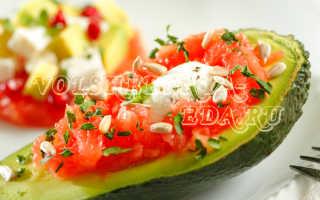 Популярные салаты с авокадо