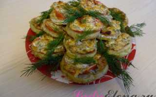 Запеченные кабачки с сыром в духовке