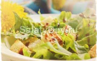 Рецепты весенних салатов из одуванчика