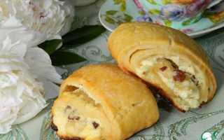 Творожные булочки-рулеты
