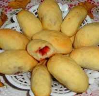 Пирожки на сковороде с вареньем