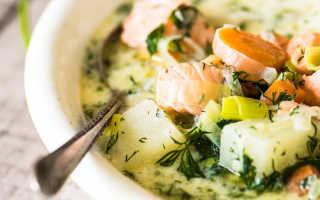Финский суп с лососем и сливками рецепт с фото