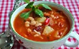 Суп с фасолью и мясом: кулинарная классика