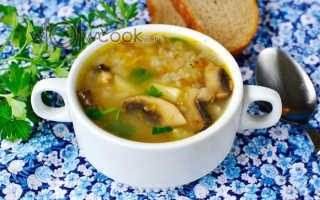 Рецепт суп с гречкой и грибами