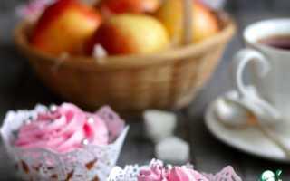 Кексики с яблоками в силиконовых формочках