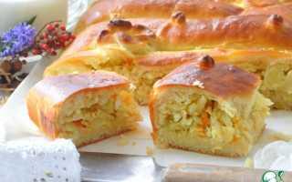 Пошаговый рецепт приготовления пирога с капустой из дрожжевого теста