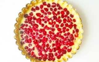Рецепт ягодного пирога со сметанной заливкой