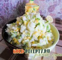 Салаты с ананасами, кукурузой и капустой, перцем, картошкой, яблоком