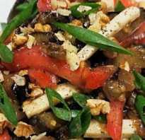 Салат из баклажанов с соевым соусом