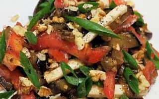 Сытные и вкусные салаты с баклажанами