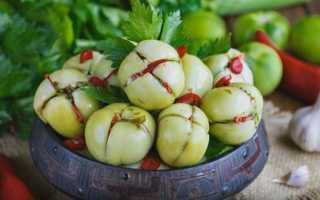 Как приготовить фаршированные зеленые помидоры на зиму по пошаговому рецепту с фото