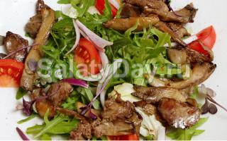 Рецепты вкусных и питательных салатов с вешенками