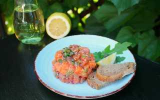 Как приготовить вкусный тартар из лосося?