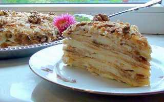 Домашний торт Наполеон с заварным кремом: классические рецепты