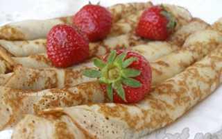 Блины на кислом молоке — 8 рецептов испеченных на простокваше блинчиков