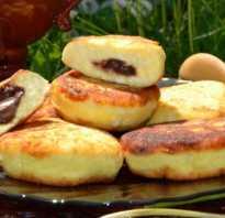 Сырники с нежной шоколадной начинкой