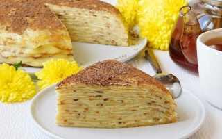 Блинный торт с заварным кремом – несколько вариантов нежного десерта. Лучшие рецепты блинного торта с заварным кремом