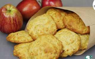 Печенье из яблок на скорую руку