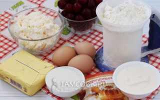 Как испечь вкусный творожный пирог с вишней