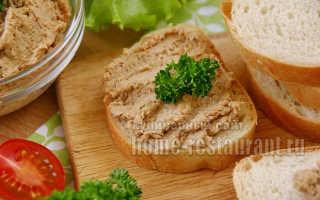 Рецепт мясного паштета