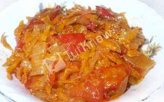 Салат на зиму: помидоры, перец, морковь, лук