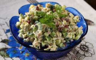 Рецепты салатов с курицей и консервированной фасолью