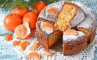 Как испечь шарлотку с мандаринами по пошаговому рецепту с фото