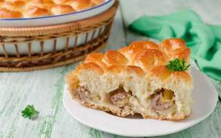 Пирог Хризантема — 5 рецепта вкусного мясного пирога