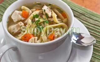 Как приготовить суп-лапша с курицей по пошаговому рецепту с фото