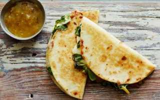 Кесадилья- мексиканская вариация пикантного бутерброда